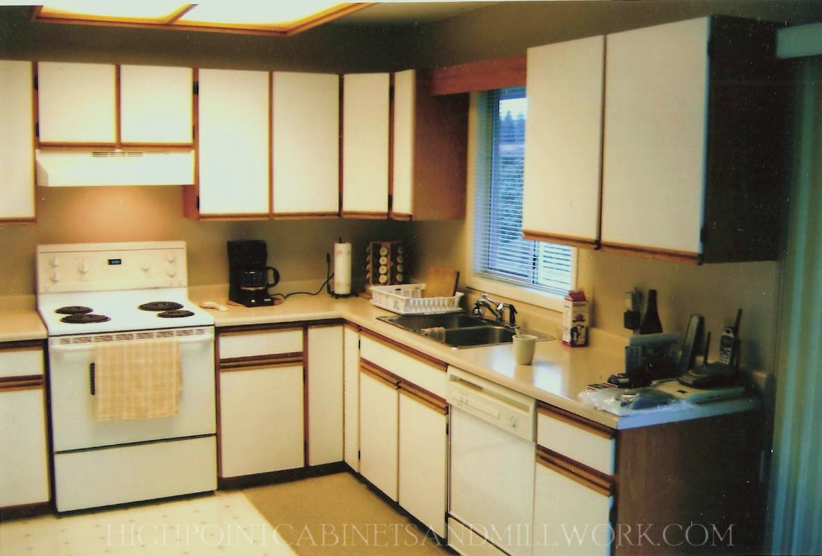 BEFORE -  Raised Panel White Laquer Kitchen