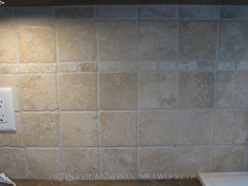Custom Tumbled Marble Backsplash