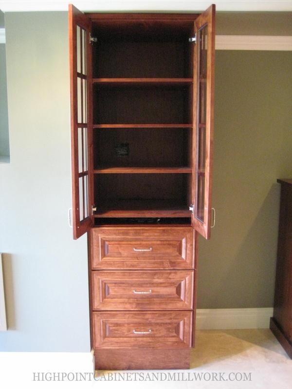 Maple A/V Cabinets Veneer Cabinet Interior